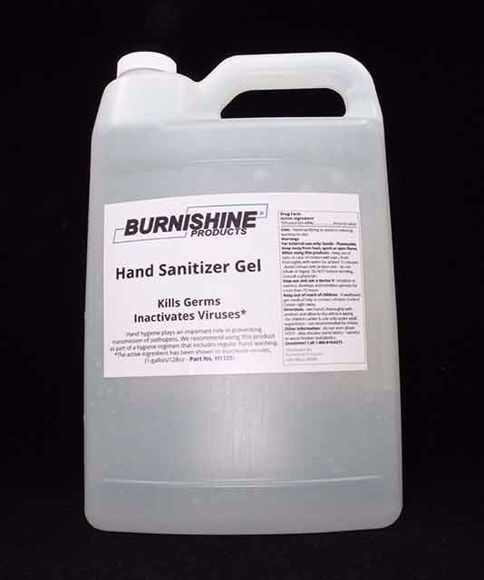 Gallon size hand sanitizer gel